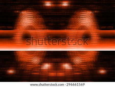 dark orange illustration of technology internet network computer background with binary number, style background. infographics. Information. ray. pixel. zero. one