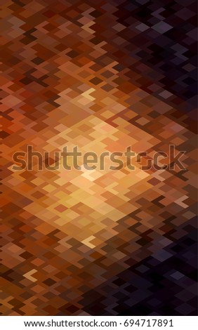 Dark Orange low poly background. A sample with a polygonal design. Illustration in polygonal style with repeating squares
