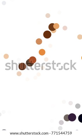 Dark Orange vertical red pattern of geometric circles, shapes. Colorful mosaic banner. Geometric background with colored disks.