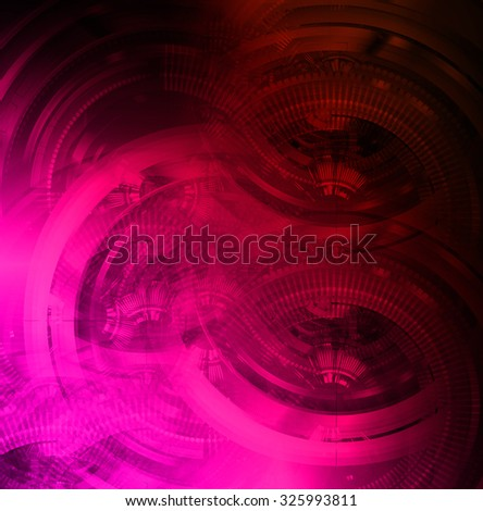 dark pink red color Light Abstract Technology background for computer graphic website internet and business.circuit. illustration. abstract digital. infographics. motion move blur.neon. gear - stock photo