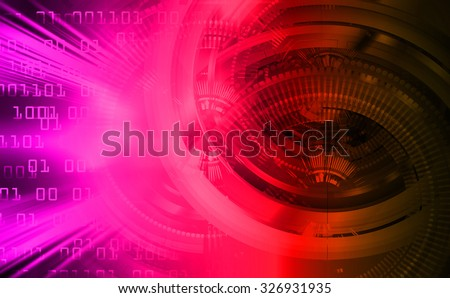 dark pink red color Light Abstract Technology background for computer graphic website internet and business.circuit. illustration. abstract digital. infographics. motion move blur.neon. Binary digit - stock photo