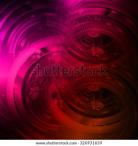 dark pink red Light Abstract Technology background for computer graphic website internet and business.circuit. illustration. abstract digital. infographics. motion move blur.neon. Binary digit - stock photo