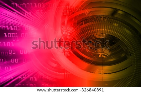 dark pink red yellow Light Abstract Technology background for computer graphic website internet and business.circuit. illustration. abstract digital. infographics. motion move blur.neon. Binary digit - stock photo