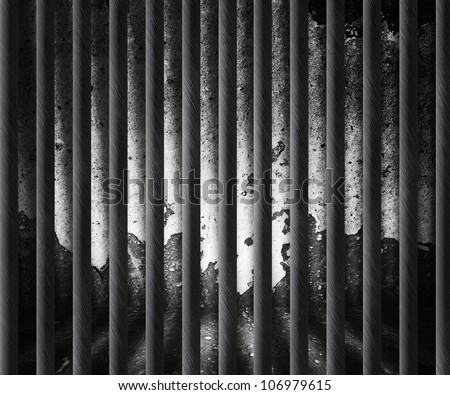 Dark Prison Cell Background - stock photo