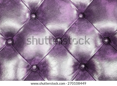 Dark purple leather upholstery sofa background for decoration.  - stock photo