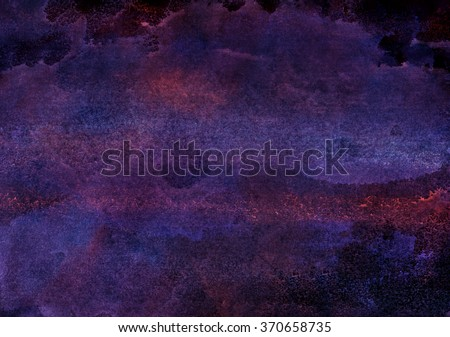 dark purple watercolor background - stock photo