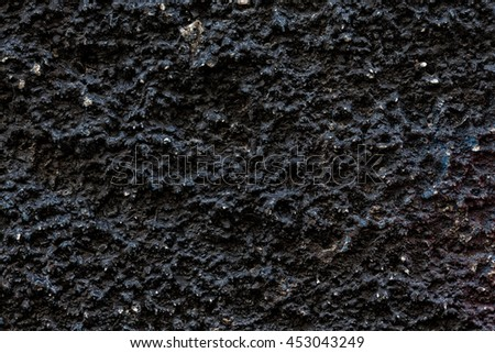 Dark Ragged Surface Of The Wall, Texture Background