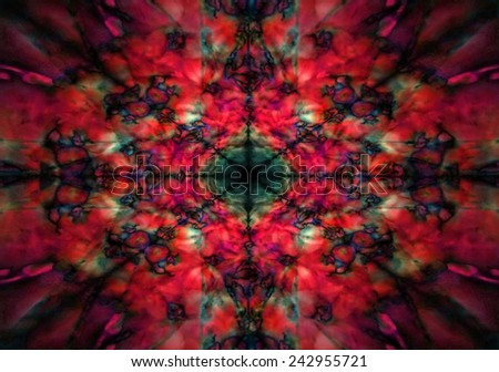 Dark red and black kaleidoscope background pattern - stock photo