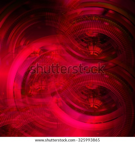 dark red color Light Abstract Technology background for computer graphic website internet and business.circuit. illustration. abstract digital. infographics. motion move blur.neon. gear - stock photo