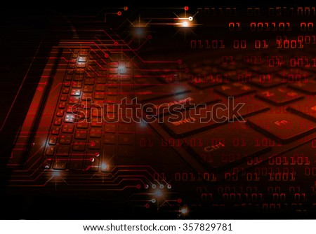 dark red color Light Abstract Technology background for computer graphic website internet and business. circuit. illustration. digital. infographics. binary code. www.one. zero. Spark scan virus - stock photo