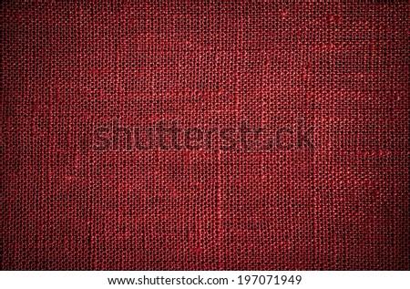 dark red flax texture - stock photo