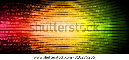 dark red green orange illustration of technology internet network computer background with binary number, style background. infographics. Information. motion blur. pixel. Binary digit - stock photo