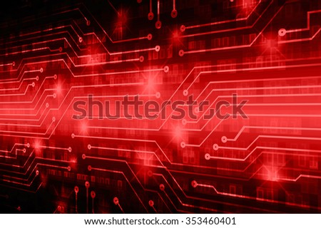 dark red illustration of technology internet network computer background with binary number, style background. infographics. Information. motion blur. pixel. Binary digit. eye - stock photo