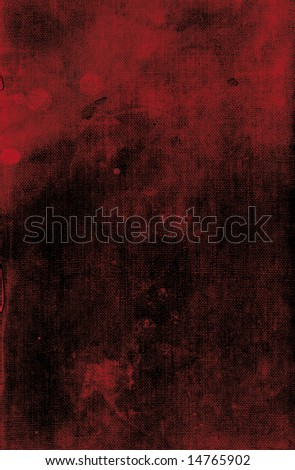 Dark red leather book cover background texture with possible blood spot stains - stock photo