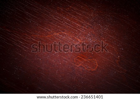Dark Red Wooden Surface Texture - stock photo