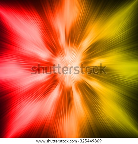 dark red yellow Light Abstract background. neon laser. zoom motion move blur. neon