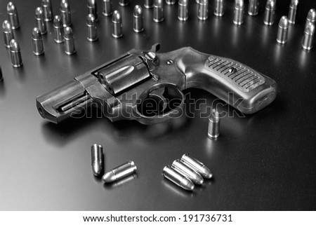 Dark revolver - stock photo
