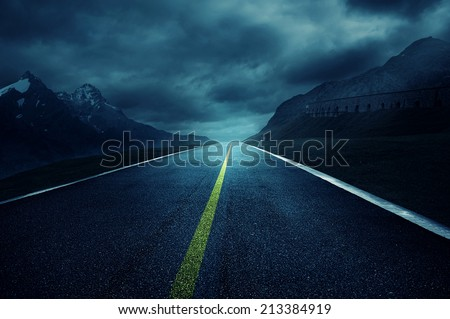 Dark Road - stock photo