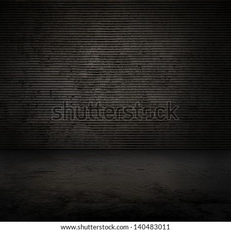dark room background - stock photo