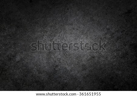 Dark rough textured black concrete photo background - stock photo