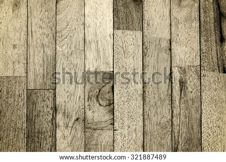 Dark rusty vintage wood background, aged wood wall and hard detail with dark rusty tone and vignetting - stock photo