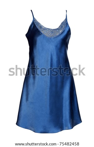 Dark Satin Women's nightgown isolated on a white background
