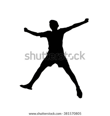dark silhouette shadow of man on the white background