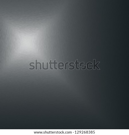 dark silver metal texture with spot light flare - stock photo