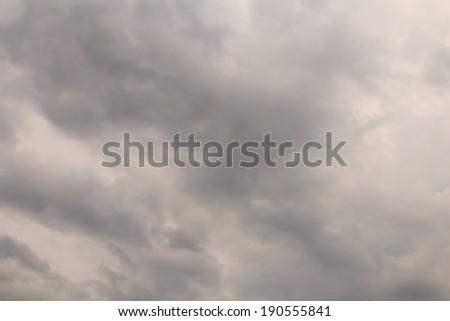 Dark sky clouds background before rain - stock photo
