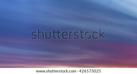 dark sky with clouds at dawn, panorama - stock photo