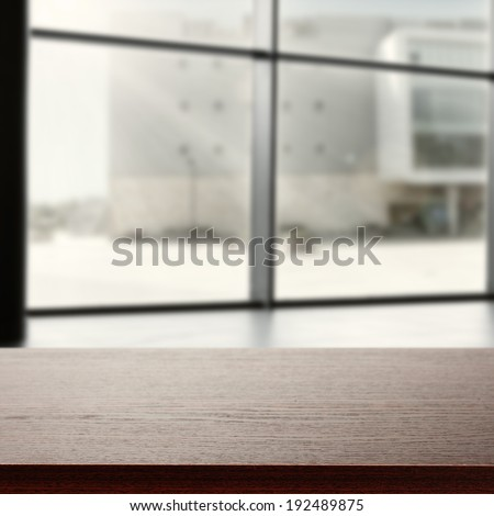 dark space with window in office  - stock photo