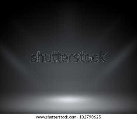 Dark Spotlight Room Background - stock photo