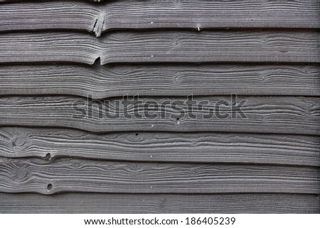 Dark stained wood background - stock photo