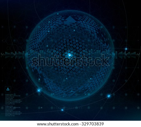 Dark star. Cyber space  technology abstract background. - stock photo