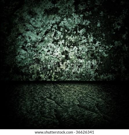 Dark stone room - stock photo