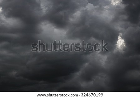 Dark storm clouds before raining, Abstract natural background. - stock photo