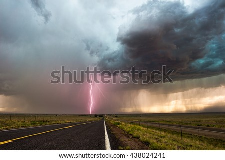 Dark storm clouds with lightning