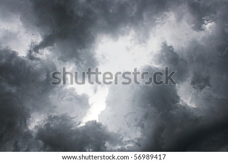 Dark storm sky. - stock photo