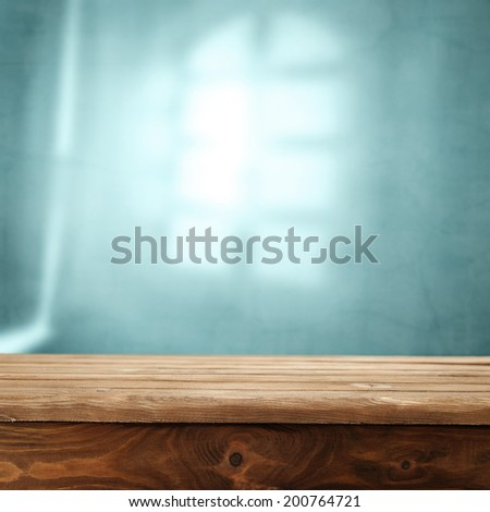 dark table and window shadow  - stock photo