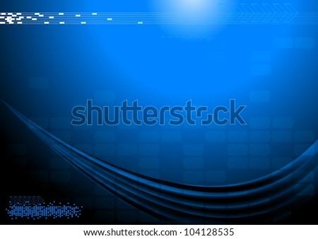 Dark technical background (horizontal position) - stock photo