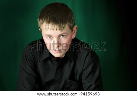 Dark teen portrait - stock photo
