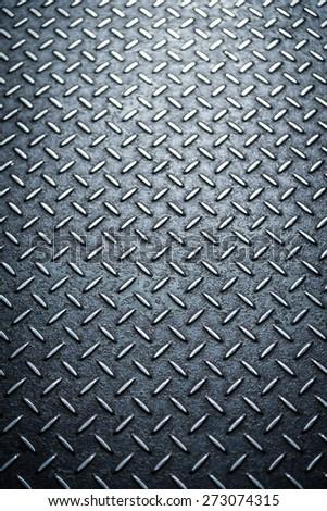 Dark textured metal background - stock photo