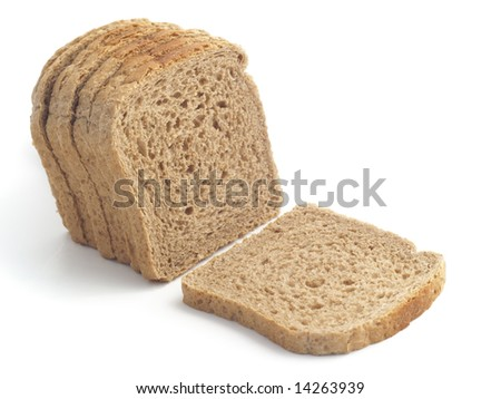 dark toast bread isolated on the white background