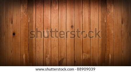 dark vintage brown wooden planks background with artistic shadows added - stock photo