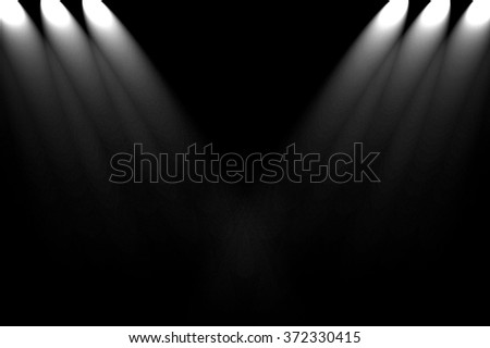 dark wall with spotlight background - stock photo