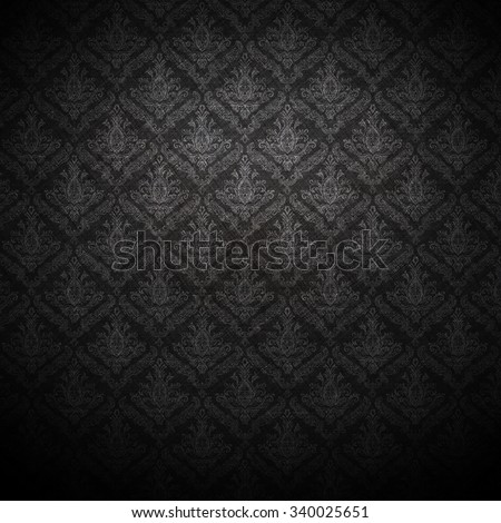 dark wallpaper for background; baroque style. - stock photo