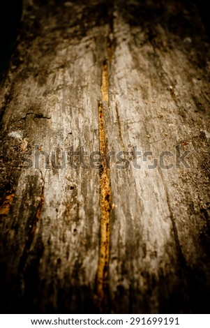 Dark weathered wood background - stock photo