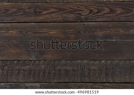 Old Rustic Table. Top View