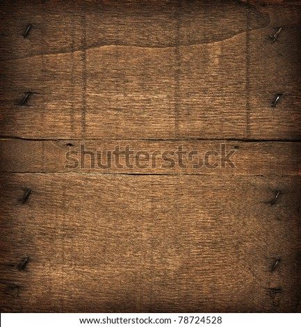 Dark wood board, as background - stock photo