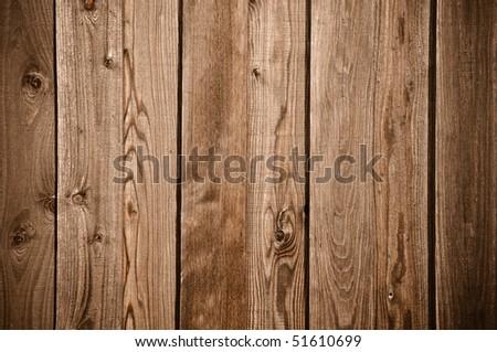 Dark Wood Fence Background - stock photo